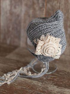 Newborn Hat Baby Girl Newborn bonnet Wool Beanie Photo