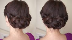 Summer Wedding Hair - Rosette Shaped Buns