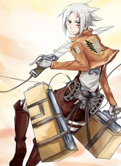 Allen - d gray man and attack on titan crossover #anime #manga