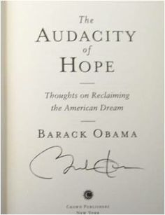 Cool Barack Obama Autographed Book, check out WWW.ALLAUTOGRAPH.COM