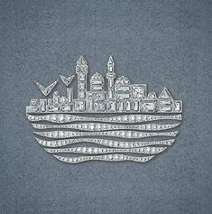 Magic Istanbul Brooch is inspired by the typical Istanbul waterfront view with a stylized representation of the water's waves and the architecture seen from its banks. #gilanistanbul