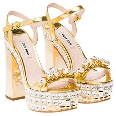 MiuMiu crystal shoes is just what I need:)