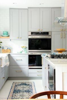 Why We Love Our Frigidaire Gallery Line Appliances Farmhouse Style Kitchen, Farmhouse Style Decorating, New Kitchen, Farmhouse Kitchens, Tiny Fridge, Blue Home Decor, Ranch Style Homes, Boho Bathroom, Boho Living Room