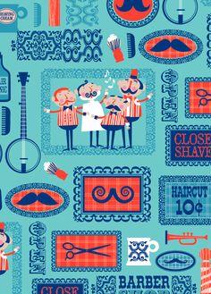 Barber Shop Quartet by Ed Miller Design, via Behance