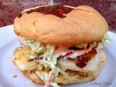 Sweet Corn Tamale Fish Fillet Sandwich
