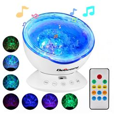 Access Control Kits Security & Protection Loyal Remote Control Multicolor Ocean Wave Projector Nightlight Baby Lamp With Mini Music Player Fit For Any Holiday Party Decorations