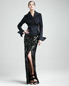 Black long sequin skirt – Fashionable skirts 2017 photo blog