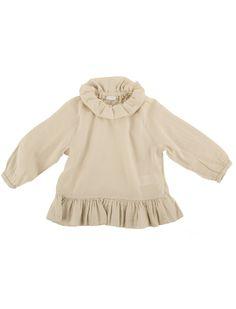 silk-cotton blouse with flounce #ilgufo #girls #fashionista #luxury #kidsfashion