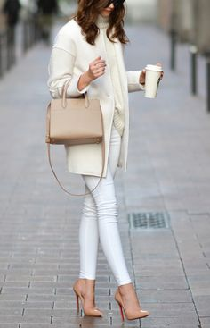 63 Sophisticated Casual Work Outfits Women For Outstanding Look Casual Work Outfits, Business Casual Outfits, White Outfits, Classy Outfits, Cool Outfits, Petite Fashion, Love Fashion, Winter Fashion, Fashion Outfits
