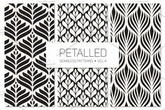 Petalled Seamless Patterns Set 4 by Curly_Pat on @creativemarket