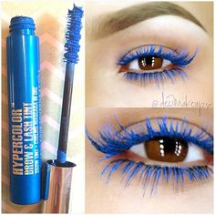 WOW Anastasia Beverly Hills hypercolor mascara in electric blue Is amazing!!! I've never seen colored mascara this opaque!