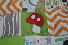 Toadstool applique for forest or woodland quilt