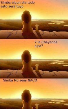 No seas naco Simba. Hahahaha que curon Mexican Jokes, Mexican Problems, Humor Mexicano, Frases Humor, Spanish Humor, Disney Memes, Funny Art, How To Relieve Stress, Make Me Smile
