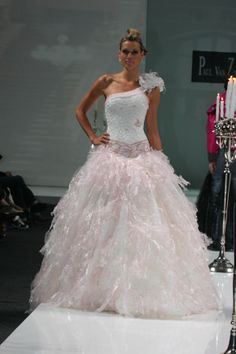 Beaded silk bodice with Frayed Organza skirt