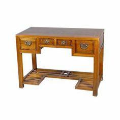 Bureau chinois en orme 4 tiroirs - mobilierdasie.com