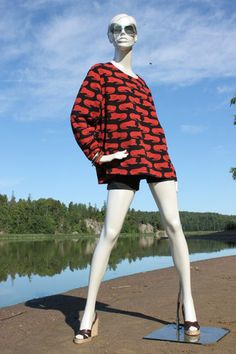 "Marimekko Cotton Long Sleeves Shirt ""Lions"" Mika Piirainen"