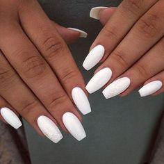 acrylic nails coffin - acrylic nails short - acrylic nails almond - gel acrylic nails - acrylic nails for summer - acrylic nails designs - acrylic nails square acrylic nails for fall - acrylic nails l Summer Acrylic Nails, Best Acrylic Nails, Acrylic Nail Designs, White Summer Nails, Acrylic Colors, Uñas Kylie Jenner, Polygel Nails, Teen Nails, Nagellack Trends
