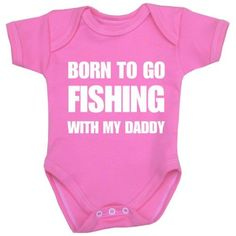 1 ONE 'Born to go Fishing with my Daddy' Fun Slogan Baby Clothes Bodysuit Vest Newborn-12 months in choice of 6 Colours PINK 9-12, http://www.amazon.com/dp/B00DM5BZWC/ref=cm_sw_r_pi_awdm_UK8Zsb19HV423