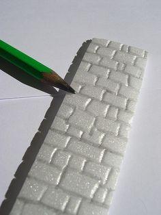 Mur en polystyrène