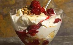 Cranachan - Scottish raspberries, heather honey, whisky, oats, fresh cream