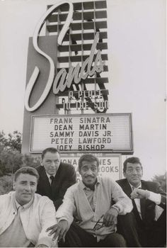 The Rat Pack, Las Vegas, 1960.
