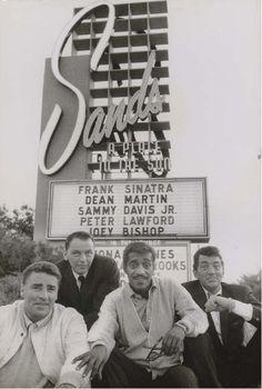 The Rat Pack, Las Vegas, 1960.