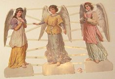 New German Victorian Easter Christmas Angels by TheWisdomTree