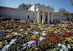 Flowers at Elvis Presley Funeral, 18th August 1977, Memphis Tennessee, USA…