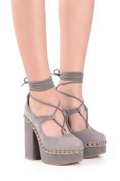 Jeffrey Campbell Shoes BETTINA-ST Heels in Taupe