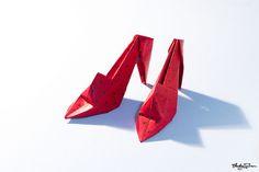 Origami High-Heel Shoes