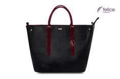 Women's shoulder bag Grazia black red