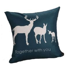 CUSTOM TOGETHER with YOU DeeR NaTURE WiLDLIFE WooDLAND HuNTING DeCORATIVE Throw Pillow Case Bed Sofa Cushion Cover Home Decor Handmade New by GoldGoosePillows on Etsy