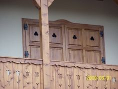 Porch Balusters, Balustrades, Barbecue Garden, Wooden Terrace, Wood Shutters, Pergola Kits, Wood Art, Simple, Sweet Home