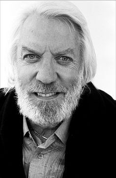 Donald Sutherland.   One of my favorites.  Great face and incredible voice.
