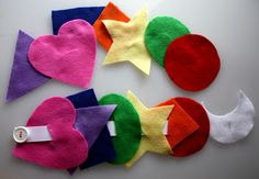 Preschool Activity Felt Button Shapes Busy Bag. $8.00, via Etsy. (Easy to make!)