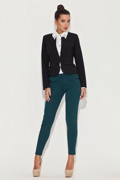 Veste casual noire, manches longues - Mademoiselle Grenade -
