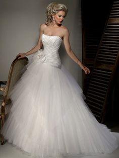 Maggie Sottero Designer wedding dresses and bridal gowns Lace Wedding Dress, Maggie Sottero Wedding Dresses, Tulle Wedding, White Wedding Dresses, Cheap Wedding Dress, Wedding Dress Styles, Bridal Dresses, Wedding Gowns, Dream Wedding