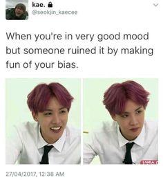 this bts meme is true :c Bts Memes Hilarious, Bts Funny Videos, Hoseok Bts, Jhope, Army Humor, Bts Qoutes, Drama Memes, Bts Tweet, Bts Playlist
