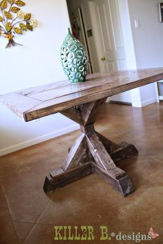 """A few weeks ago, my sister mentioned that she wanted to upgrade her hand-me-down round oak table she'd had since she graduated college. She wanted a """"real"""" table that she picked h…"""