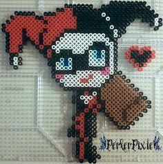 Kawaii Harley Quinn perler beads by PerlerPixie on DeviantArt