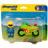 Pilote et moto de course - Playmobil 1.2.3 - 6719 - Jouets & activités créatives 1,2,3 - Cultura