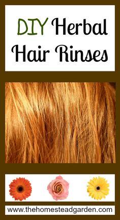 DIY Herbal Hair Rinses