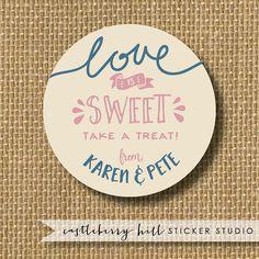 Love is Sweet Label Love is sweet Candy Buffet by CastleberryHill