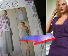 translate a clothing pattern to doll proportions, and using a cutting machine to cut the final fabric pieces