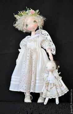 Коллекционные куклы ручной работы. Ярмарка Мастеров - ручная работа Ангелы тоже играют в кукол. Handmade.