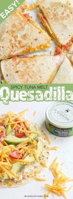 Tuna Quesadillas are the perfect kid-friendly protein option for summer. Avocado Recipes, Fish Recipes, Seafood Recipes, Sriracha Recipes, Healthy Diet Recipes, Vegetarian Recipes, Most Delicious Recipe, Sustainable Food, Quesadillas