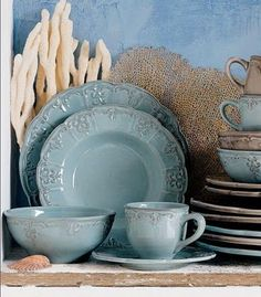 Love the color of these dishes!