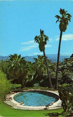 Palm Springs Tennis Club_CA    stamped: Near Shields Date Gardens, Indio, Cakifornia