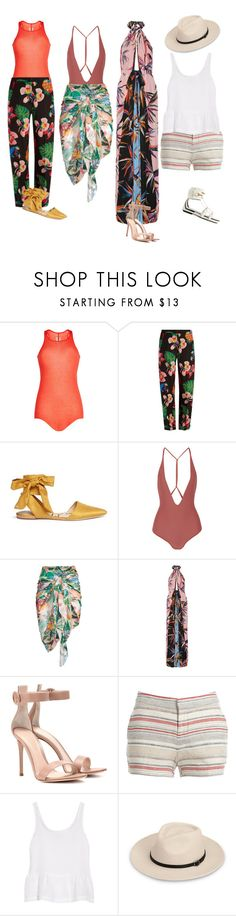 """""""Untitled #424"""" by fashondoll ❤ liked on Polyvore featuring Rick Owens, Valentino, Sam Edelman, Mikoh, Emilio Pucci, Gianvito Rossi, Joie, J Brand and Gucci"""