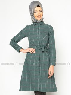 Button Tunic - Green - Zernisan